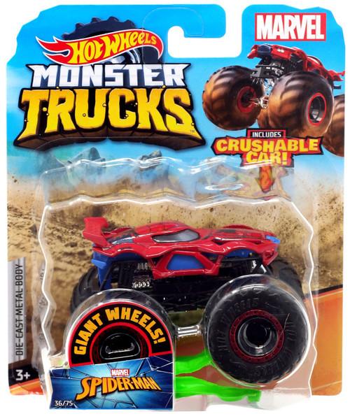 Hot Wheels Monster Trucks Marvel Spider-Man Diecast Car