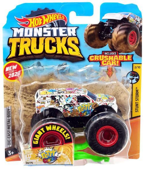 Hot Wheels Monster Trucks Stunt Storm Potty Central Diecast Car