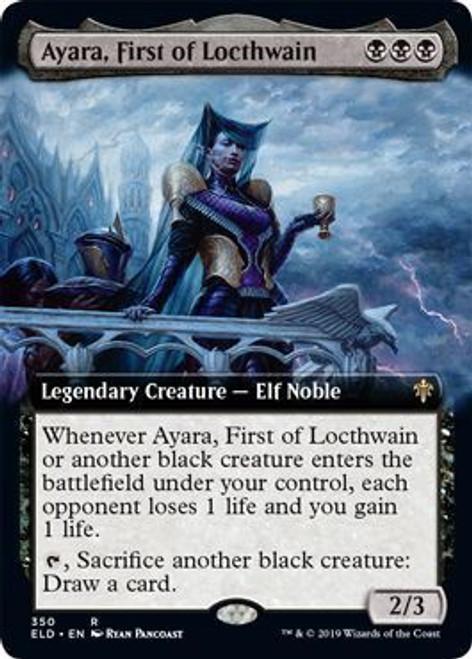 MtG Throne of Eldraine Rare Ayara, First of Locthwain #350 [Extended Art Foil]