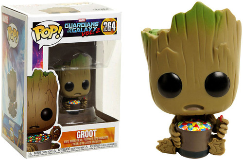 Funko Guardians of the Galaxy Vol. 2 POP! Marvel Groot Exclusive Vinyl Bobble Head #264 [With Candy Bowl, Damaged Package]