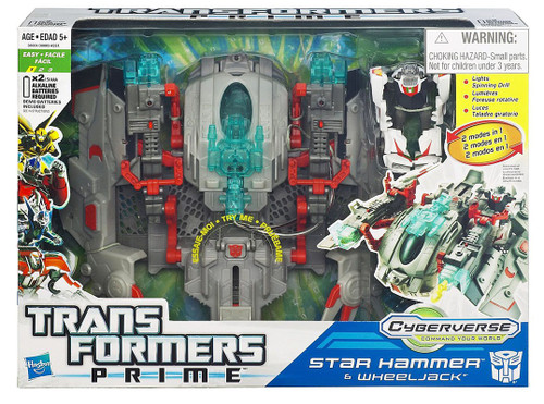 Transformers Prime Cyberverse Commander Star Hammer Wheeljack Commander Action Figure