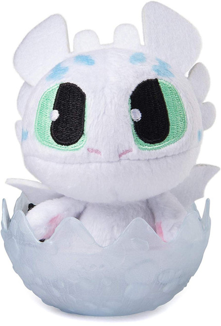 How to Train Your Dragon The Hidden World Light Fury 3-Inch Egg Plush [Blue Spots]
