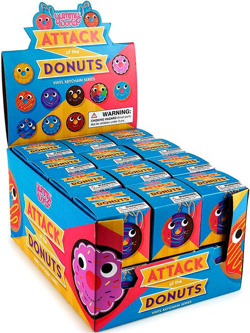 Yummy World Vinyl Keychain Attack of the Donuts 3-Inch Mystery Box [24 Packs] (Pre-Order ships September)
