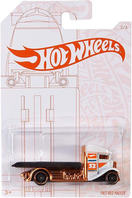 Hot Wheels Pearl & Chrome Fast-Bed Hauler Diecast Car #3/6