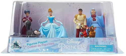 Disney Princess Cinderella 70th Anniversary Exclusive 6-Piece PVC Figure Playset