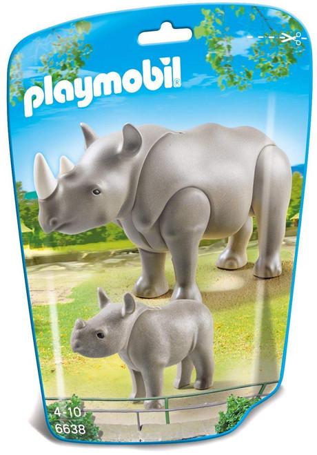 Playmobil City Life Rhino with Baby Set #6638