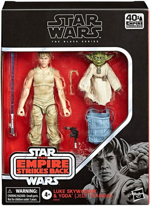 Star Wars Black Series Luke Skywalker & Yoda (Jedi Training) Deluxe Action Figure 2-Pack