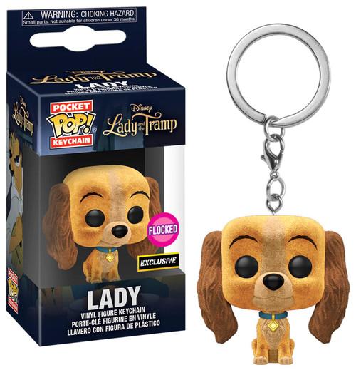 Funko Lady & The Tramp POP! Disney Lady Exclusive Keychain [Flocked]