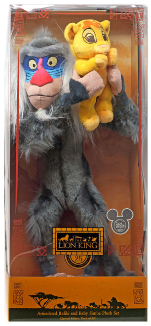 Disney The Lion King 25th Anniversary Articulated Rafiki & Baby Simba Exclusive 14-Inch Plush Set