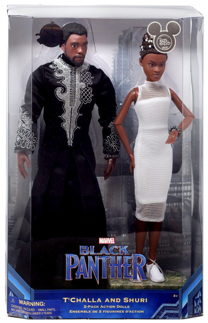 Disney Marvel Black Panther T'Challa & Shuri Exclusive 11-Inch Doll 2-Pack