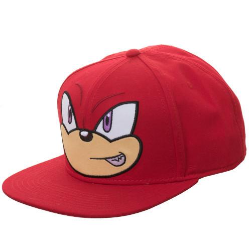 Sonic The Hedgehog Knuckle Big Face Snapback Cap