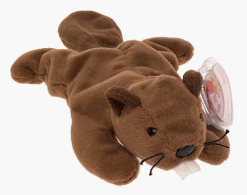 Beanie Babies Bucky the Beaver Beanie Baby Plush