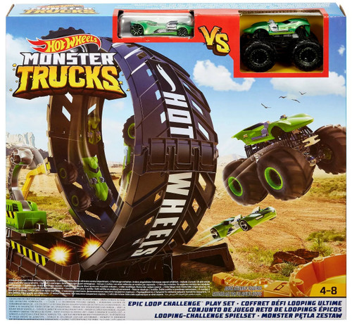 Hot Wheels Monster Trucks Loop Challenge Playset