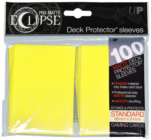 Ultra Pro Card Supplies Eclipse Pro-Matte Lemon Yellow Standard Card Sleeves [100 Count]