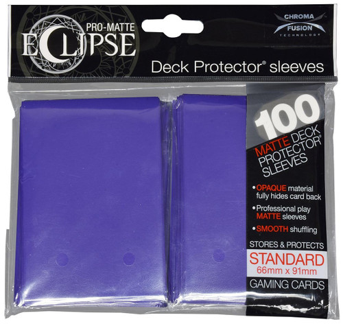 Ultra Pro Card Supplies Eclipse Pro-Matte Royal Purple Standard Card Sleeves [100 Count]
