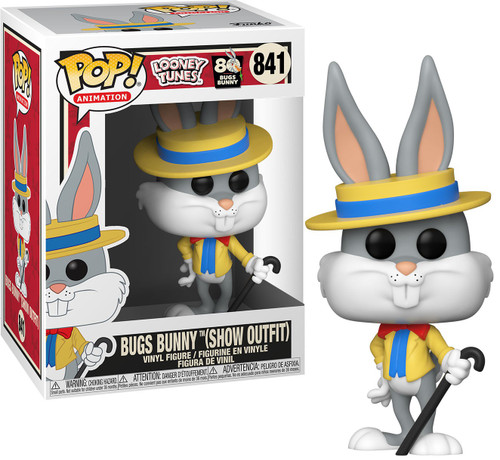 Funko Bugs 80th POP! Animation Bugs Bunny in Show Outfit Vinyl Figure