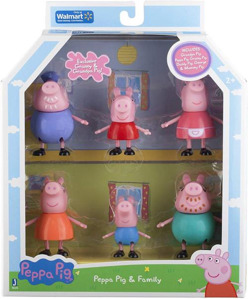 Peppa Pig & Family Figure 6-Pack
