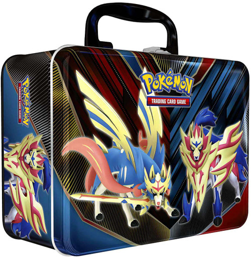 Pokemon Trading Card Game 2020 Collector's Chest Zacian & Zamazenta Tin Set [5 Booster Packs, 3 Promo Cards, Coin & More]