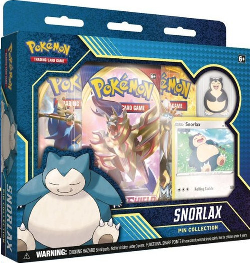 Pokemon Trading Card Game Snorlax Pin Collection [3 Booster Packs, Promo Card & Pin]