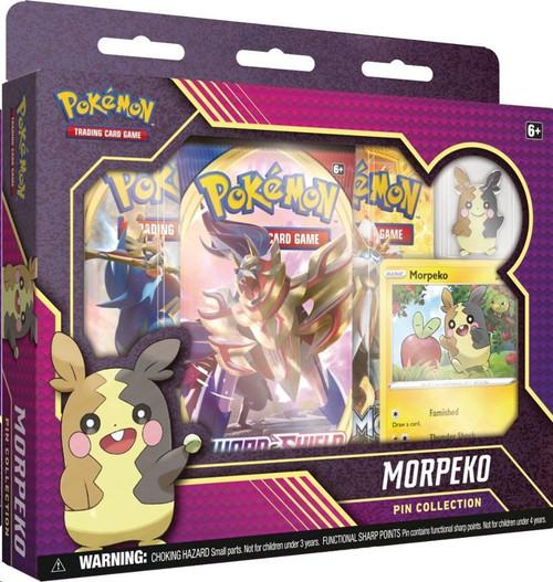 Pokemon Trading Card Game Morpeko Pin Collection [3 Booster Packs, Promo Card & Pin!]