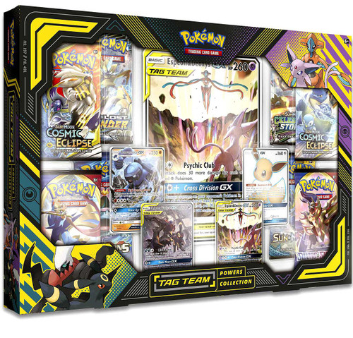 Pokemon Trading Card Game Sun & Moon Espeon & Deoxys-GX Tag Team Powers Collection [8 Booster Packs & 7 Promo Cards!]