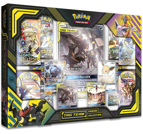 Pokemon Trading Card Game Sun & Moon Umbreon & Darkrai Tag Team Powers Collection [8 Booster Packs & 7 Promo Cards!]