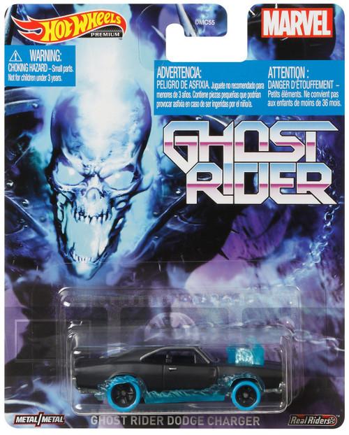 Marvel Hot Wheels Premium Ghost Rider Dodge Charger Die Cast Car