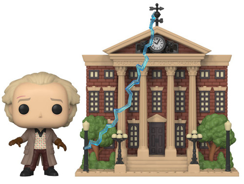 Funko Back to the Future POP! Town Doc with Clock Tower Vinyl Figure Set #15