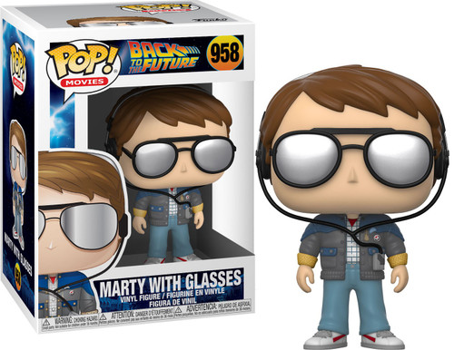 Funko Back to the Future POP! Movies Marty with Glasses Vinyl Figure #958