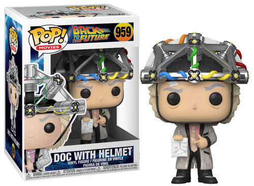 Funko Back to the Future POP! Movies Doc with helmet Vinyl Figure #959