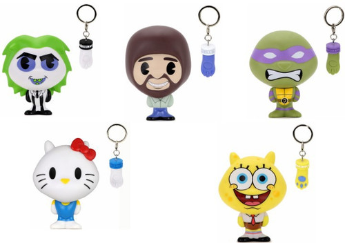 Bhunny Beetlejuice, Hello Kitty, Spongebob, Bob Ross & Donatello Set of 5 Mini Figures