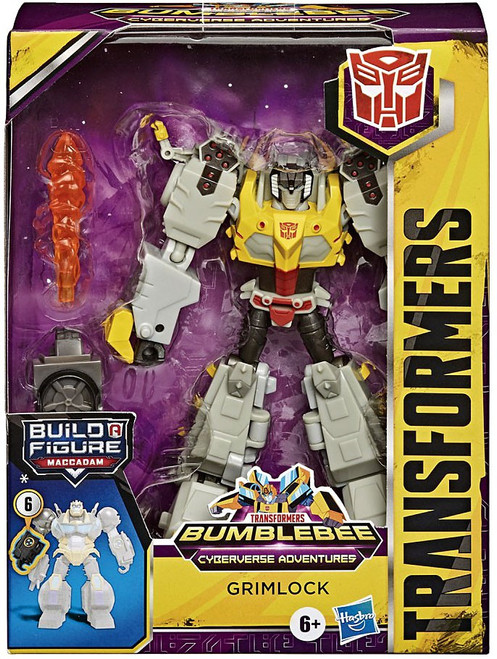 Transformers Bumblebee Cyberverse Adventures Build a Maccadam Grimlock Deluxe Action Figure