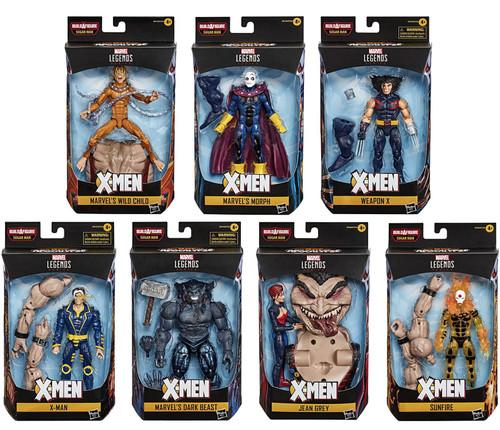 X-Men Marvel Legends Sugar Man Series Set of 7 Action Figures