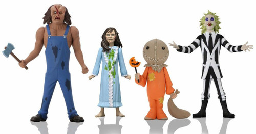 NECA Horror Toony Terrors Series 4 Victor Crowley, Regan, Sam, Beetlejuice Set of 4 Action Figures (Pre-Order ships December)