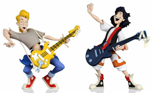 NECA Bill & Ted's Excellent Adventure Toony Classics Bill & Ted Action Figure 2-Pack (Pre-Order ships November)