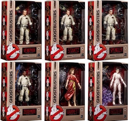 Ghostbusters Plasma Series Peter, Ray, Egon, Winston, Gozer & Dana Set of 6 Action Figures