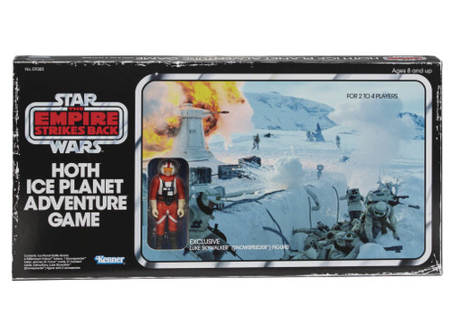 Star Wars The Empire Strikes Back Hoth Ice Planet Adventure Retro Board Game [Exclusive Snowspeeder Luke Action Figure]