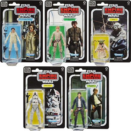 Star Wars Empire Strikes Back 40th Anniversary Wave 1 Set of 5 Action Figures (Sealed Case) [Leia, Luke, Yoda, Han & AT-AT Driver]