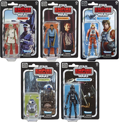 Star Wars Empire Strikes Back 40th Anniversary Wave 2 Set of 5 Action Figures [Luke, Lando, R2-D2, Rebel Soldier & TIE Pilot]