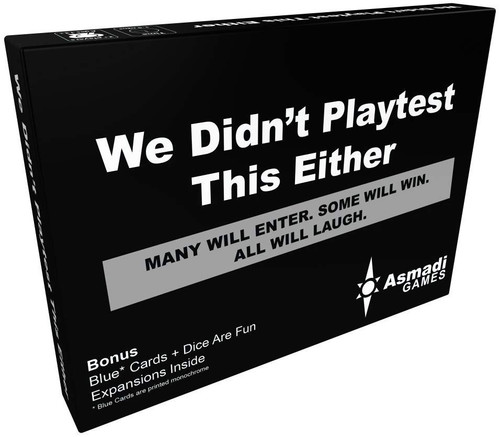 We Didn't Playtest This At All We Didn't Playtest This Either Card Game Expansion