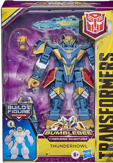 Transformers Bumblebee Cyberverse Adventures Build a Maccadam Thunderhowl Deluxe Action Figure