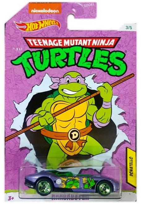 Hot Wheels Teenage Mutant Ninja Turtles Rrroadster Diecast Car #3/5 [Donatello]