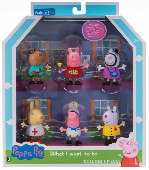 Peppa Pig What I Want to Be Exclusive Figure 6-Pack