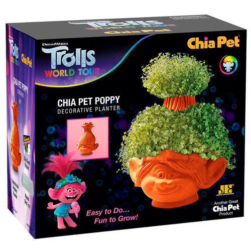 NECA Chia Trolls World Tour Poppy Chia Pet