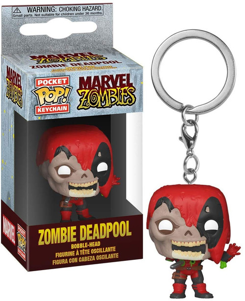 Funko Marvel Zombies POP! Keychain Deadpool Vinyl Figure
