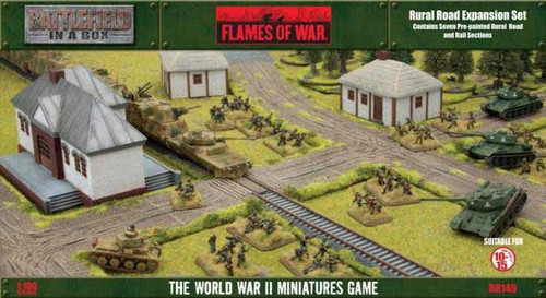 Flames of War Battlefield in a Box Rural Road Miniatures BB140 [Pre-Painted]
