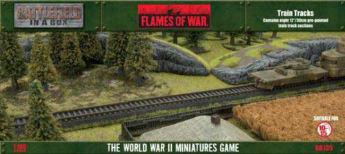 Flames of War Battlefield in a Box Train Tracks Miniatures BB135 [Pre-Painted]