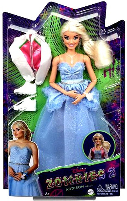 Disney Zombies 2 Addison Wells 11.5-Inch Deluxe Singing Doll [Premium Version, Sparkly Prom Dress]