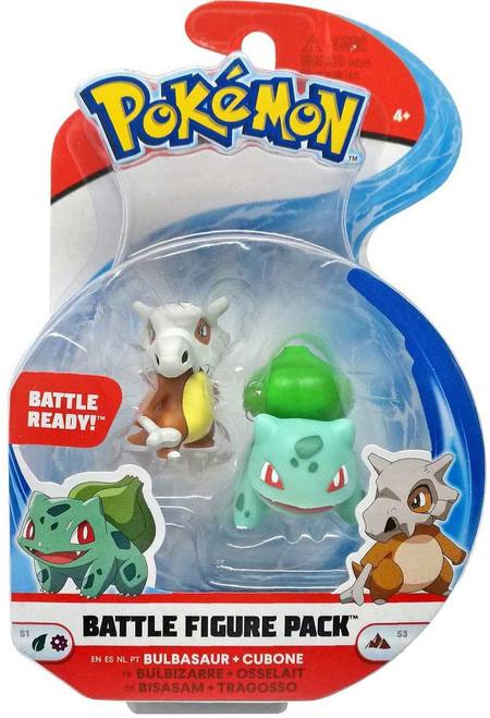 Pokemon Series 3 Battle Figure Bulbasaur and Cubone 2-Inch Mini Figure 2-Pack