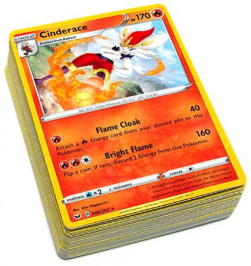 Pokemon Trading Card Game Sword & Shield Base Set LOT of 50 Single Cards
